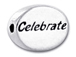 CELEBRATE Sterling Silver Oval Message Bead