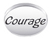 COURAGE Sterling Silver Oval Message Bead
