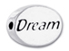 DREAM Sterling Silver Oval Message Bead
