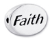 FAITH Sterling Silver Oval Message Bead