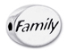 FAMILY Sterling Silver Oval Message Bead