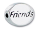 FRIENDS Sterling Silver Message Bead