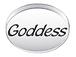 GODDESS Sterling Silver Message Bead