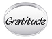 GRATITUDE Sterling Silver Message Bead