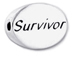 SURVIVOR Sterling Silver Oval Message Bead CLEARANCE SALE