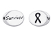 SURVIVOR Sterling Silver Oval Message Bead
