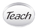 TEACH Sterling Silver Oval Message Bead