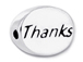 THANKS Sterling Silver Oval Message Bead CLEARANCE SALE