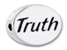 TRUTH Sterling Silver Oval Message Bead