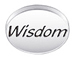 WISDOM Sterling Silver Oval Message Bead