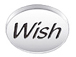WISH Sterling Silver Oval Message Bead