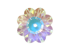Crystal AB - 10mm Swarovski Margarita Beads