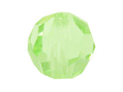 24 Chrysolite - 6mm Swarovski Faceted Round Beads