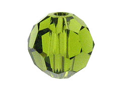 18 Olivine - 8mm Swarovski Faceted Round Beads