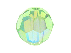 36 Chrysolite AB - 4mm Swarovski Faceted Round Beads