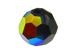 Jet AB - Swarovski 5000 5mm Round Faceted Beads Factory Pack