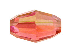 Padparadsha AB -  9x6mm Swarovski Barrel Beads