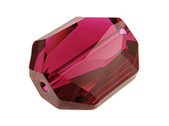 Ruby - 18mm Swarovski Graphic Beads