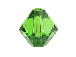 100 3mm Fern Green - Swarovski Faceted Bicone Beads