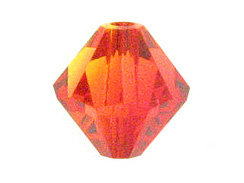 6mm Fire Opal Swarovski Bicone Beads Factory Pack