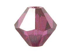 6mm Fuchsia Satin Swarovski Bicone Beads Factory Pack