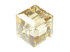 4mm Crystal Golden Shadow Swarovski Cubes Factory Pack