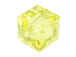 4mm Jonquil Swarovski Cubes Factory Pack