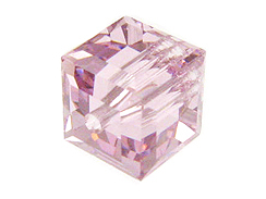 24 Light Amethyst - 4mm Swarovski Faceted Cube Beads
