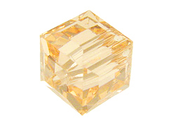 6 Light Peach - 8mm Swarovski Faceted Cube Beads