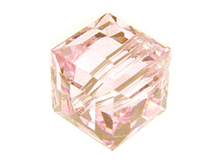 12 Rosaline - 6mm Swarovski Faceted Cube Beads