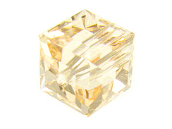 12 Silk - 6mm Swarovski Faceted Cube Beads