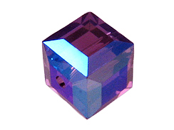 4mm Amethyst AB Swarovski Cubes Factory Pack