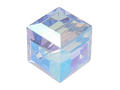 8mm Light Sapphire AB Swarovski Cubes Factory Pack