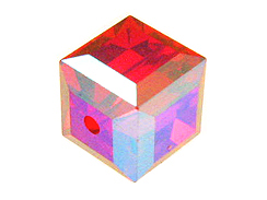 6mm Light Siam AB Swarovski Cubes Factory Pack