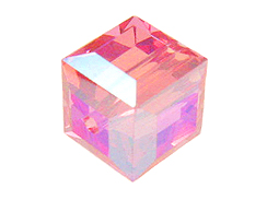 Rose AB Swarovski 5601 4mm Cube Beads Factory Pack