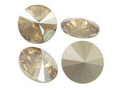 Swarovki 1122 14mm Rivoli Stones Crystal Golden Shadow