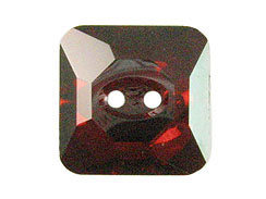 Crystal Red Magma - 10mm Square Swarovski Buttons