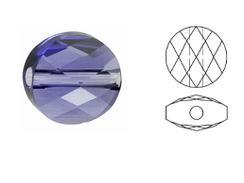 Tanzanite - 6mm Swarovski Mini Round Bead