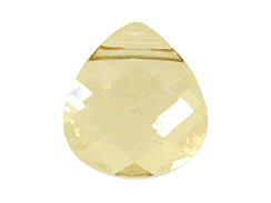 Crystal Golden Shadow - 15.4x14mm Flat Swarovski  Briolettes