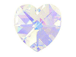 Crystal AB - 10.3x10mm Swarovski  Heart Shape Pendant