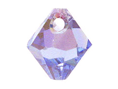 Light Sapphire AB - 6mm Swarovski 6301 Top Drilled Bicones Factory Pack of 360