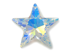 Crystal AB - 20mm Swarovski  Star Pendant
