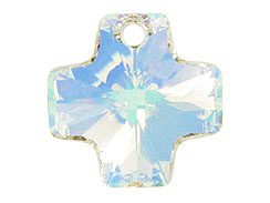 Crystal AB - 20mm Swarovski  Cross Pendant