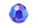 12 Sapphire AB - 10mm Swarovski Faceted Round Beads
