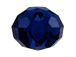 Dark Indigo - 8mm Swarovski 5040 Briolette Beads