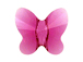 24 Fuchsia - 6mm Swarovski Faceted Butterfly Beads