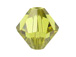 18 Lime - 8mm Swarovski Faceted Bicone Beads