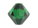 18 Medium Emerald - 8mm Swarovski Faceted Bicone Beads