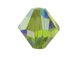 36 Olivine AB - 6mm Swarovski Faceted Bicone Beads
