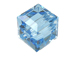 6 Aquamarine - 8mm Swarovski Faceted Cube Beads